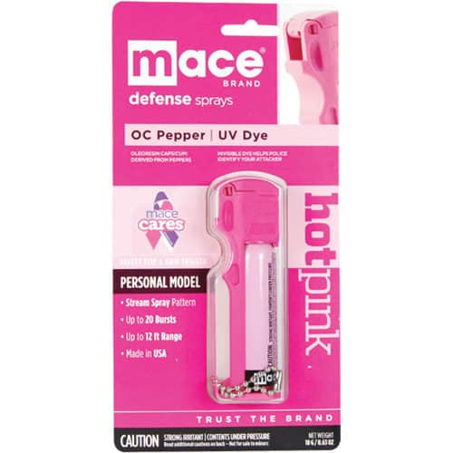 Mace Personal Hot Pink 10% Pepper Spray Blister Pack