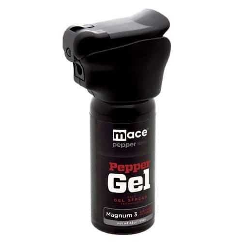 Mace Pepper Gel Night Defender MK-III With Light Left Side View