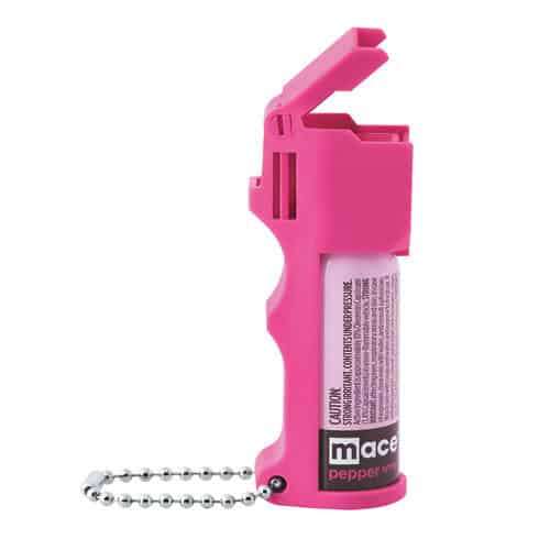 Mace Pocket Model Hot Pink 10% Pepper Spray Left Side View
