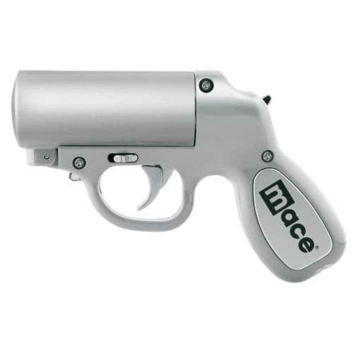 Mace Pepper Gun Silver Left Side View