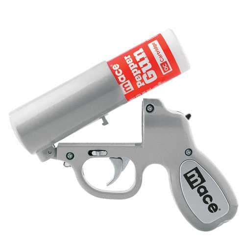 Mace Pepper Gun Silver With Canister Up