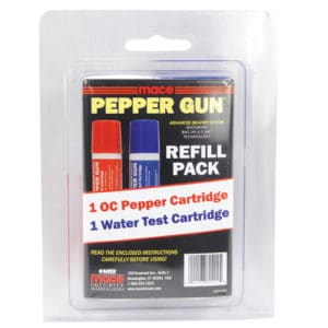 Mace Pepper Gun Dual Pack OC/ Water Refill Blister Pack