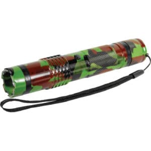 Camouflage Bashlite 15,000,000 Volt Stun Gun Lying Down With Button Showing
