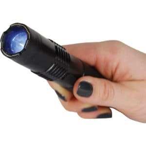 BashLite 15,000,000 Volt Stun Gun Flashlight Black In Hand