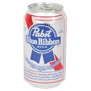 PBR Beer Can Safe Front View