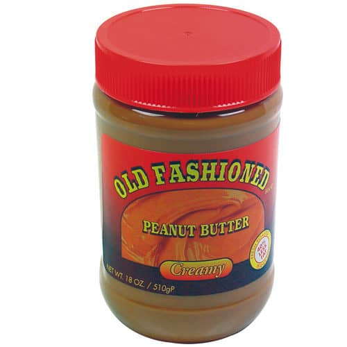 Peanut Butter Diversion Safe Lid On