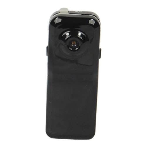 Mini Hidden Spy Camera Black Front View