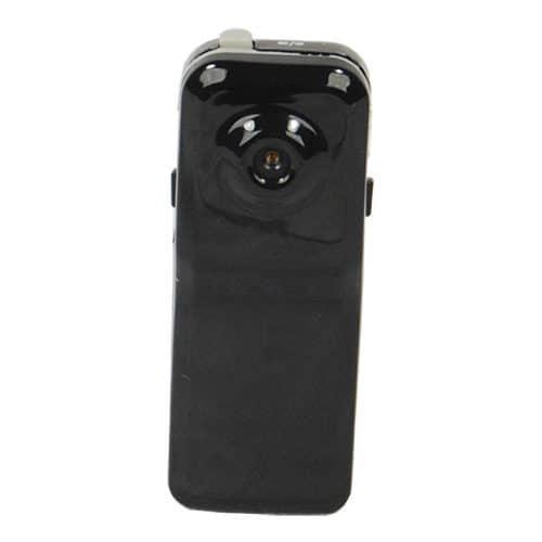 Mini Hidden Spy Camera Black Front View