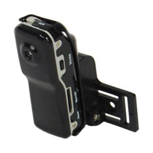 Mini Hidden Spy Camera On Clip Left Side View Tilted To The Front