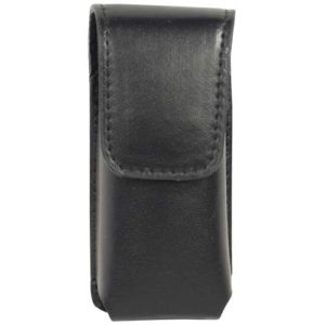 Black Leatherette Holster for Li'L Guy Stun Gun Front View