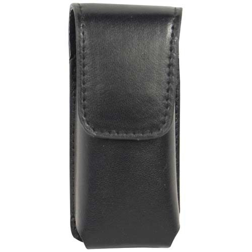 Black Leatherette Holster for Li'L Guy Stun Gun Front View