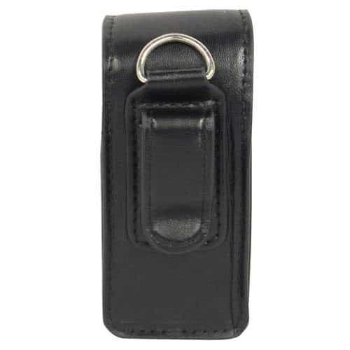 Black Leatherette Holster For RUNT Stun Gun Rear View