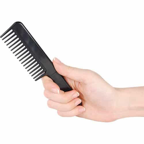 Comb Metal Hidden Knife Black In Hand