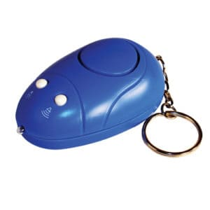 Keychain Alarm with Light Top View Side View