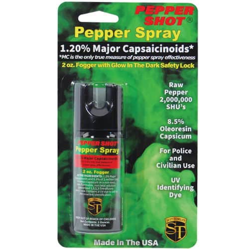 Pepper Shot 1.2% MC 2 oz Pepper Spray Fogger Blister Pack