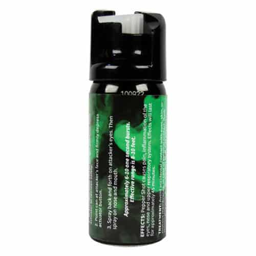 Pepper Shot 1.2% MC 2 oz Pepper Spray Fogger Right Side View