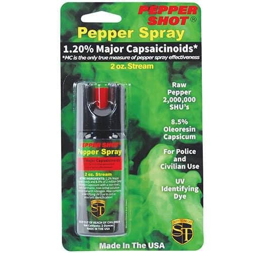 Pepper Shot 1.2% MC 2 oz Pepper Spray Blister Pack