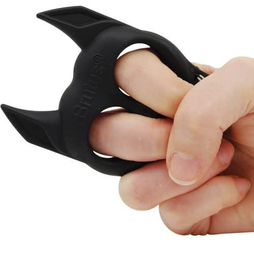 Brutus Self Defense Key Chain Black In Hand