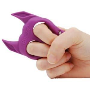 Brutus Self Defense Key Chain Purple In Hand