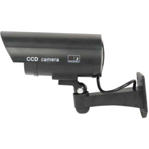 Bullet Style IR Dummy Camera Black Side View