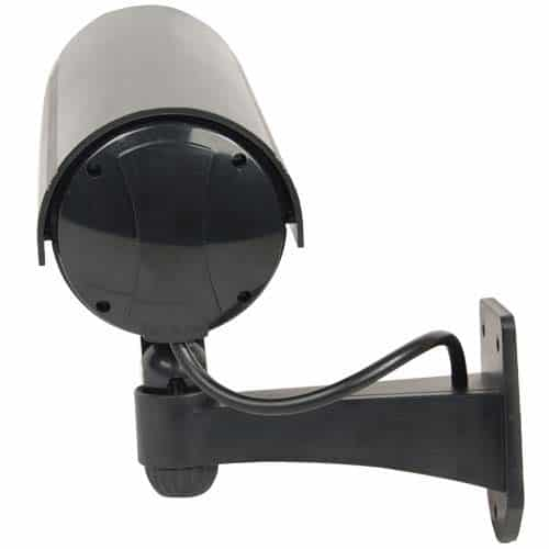 Bullet Style IR Dummy Camera Black Pointing Up Back View