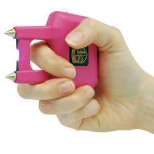 Spike Stun Gun Pink In Hand