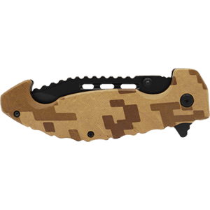 Folding Knife Brown Digital Camo Closed