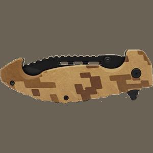 Folding Knife Brown Digital Camo Closed